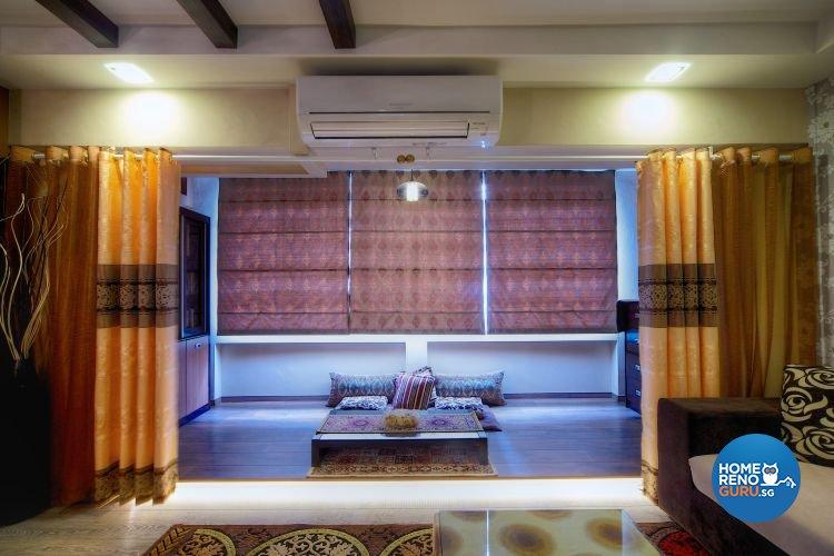 Classical, Contemporary Design - Balcony - HDB Executive Apartment - Design by Decormark Design Pte Ltd