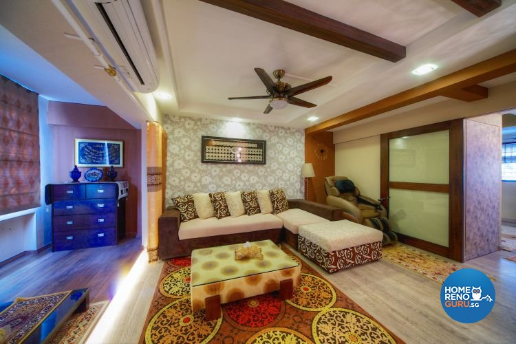 Classical, Contemporary Design - Living Room - HDB Executive Apartment - Design by Decormark Design Pte Ltd