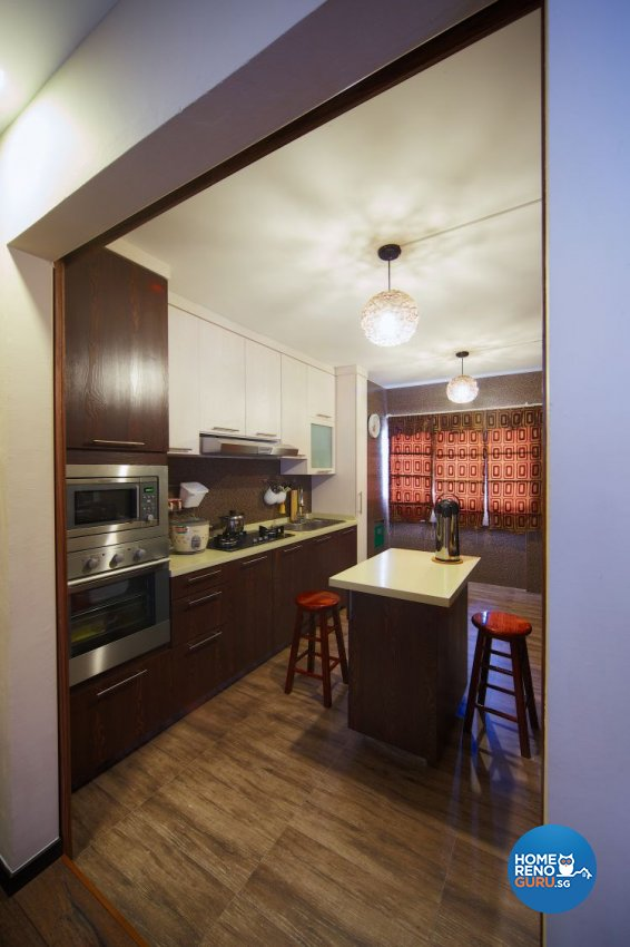 Classical, Contemporary Design - Kitchen - HDB Executive Apartment - Design by Decormark Design Pte Ltd