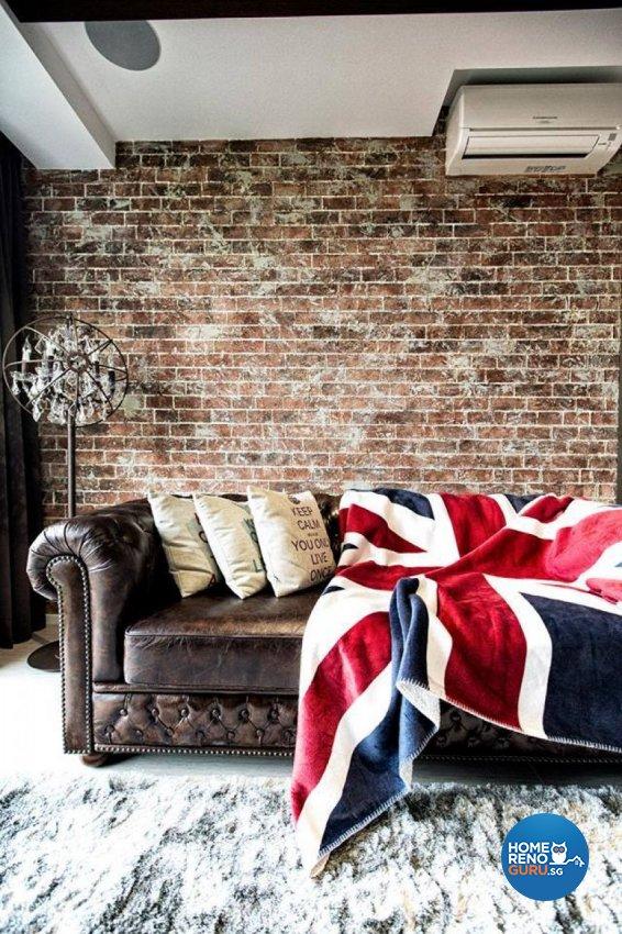 Rustic Design - Living Room - Condominium - Design by Des & Co Interior Pte Ltd