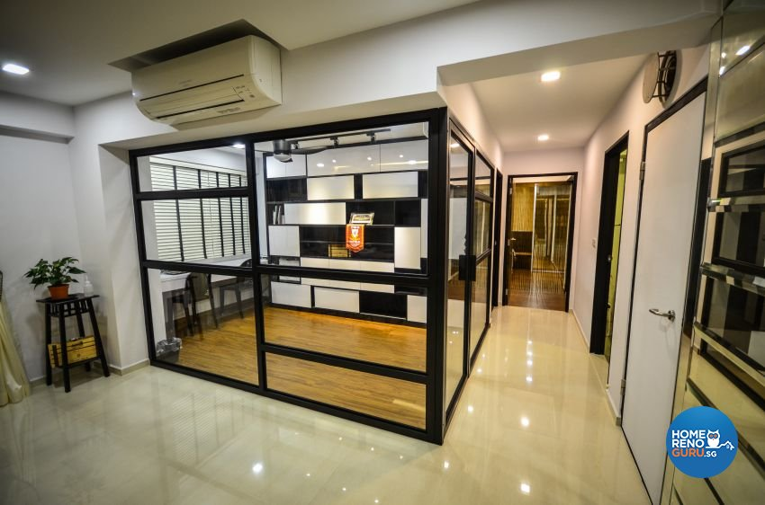 Industrial, Scandinavian Design - Study Room - HDB 5 Room - Design by Des & Co Interior Pte Ltd