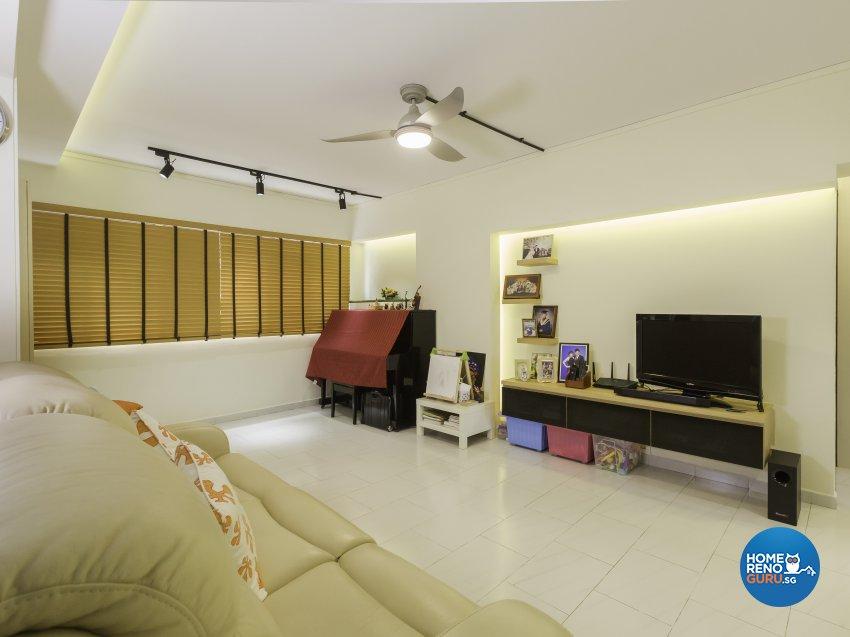 Contemporary Design - Living Room - HDB 5 Room - Design by Des & Co Interior Pte Ltd