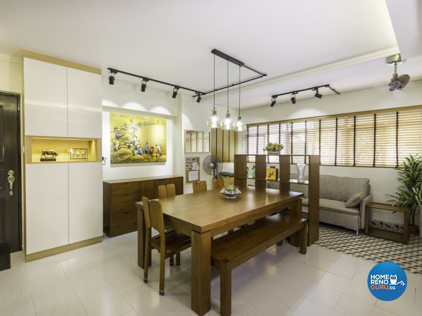 Contemporary Design - Dining Room - HDB 5 Room - Design by Des & Co Interior Pte Ltd