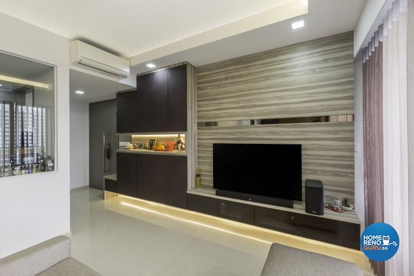Contemporary, Modern Design - Living Room - Condominium - Design by Design 4 Space Pte Ltd