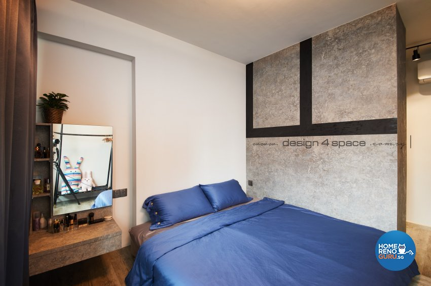 Industrial Design - Bedroom - HDB 4 Room - Design by Design 4 Space Pte Ltd