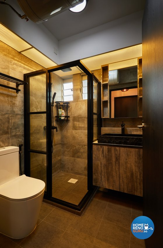 Industrial Design - Bathroom - HDB 4 Room - Design by Design 4 Space Pte Ltd