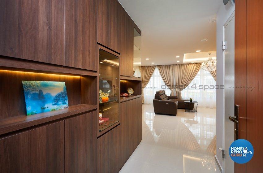 Contemporary Design - Living Room - HDB 5 Room - Design by Design 4 Space Pte Ltd