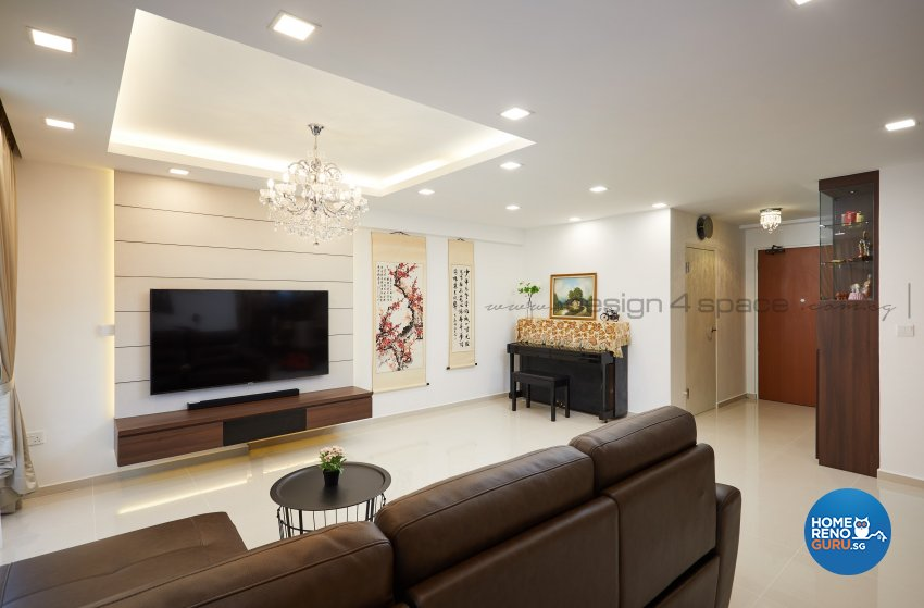 Contemporary Design - Living Room - HDB 5 Room - Design by Design 4 Space Pte Ltd