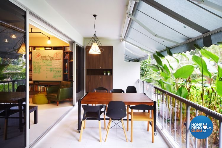 Industrial, Minimalist Design - Balcony - Condominium - Design by Design 4 Space Pte Ltd