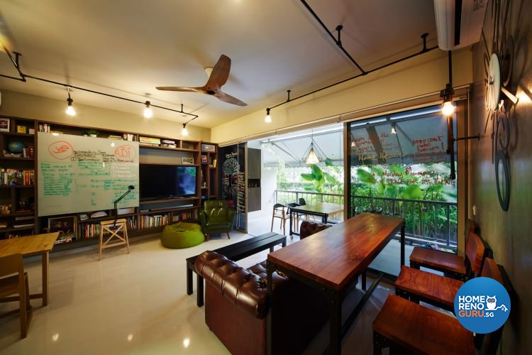 Industrial, Minimalist Design - Living Room - Condominium - Design by Design 4 Space Pte Ltd