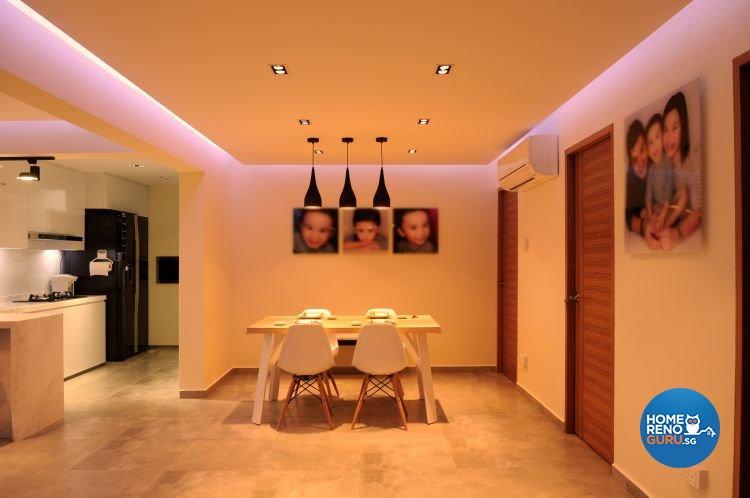 Minimalist, Modern Design - Dining Room - HDB 5 Room - Design by Design 4 Space Pte Ltd