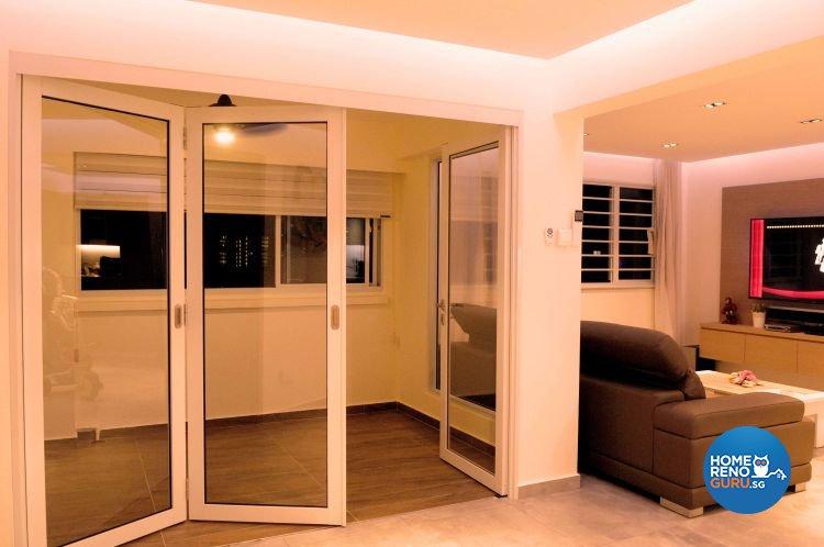 Minimalist, Modern Design - Balcony - HDB 5 Room - Design by Design 4 Space Pte Ltd