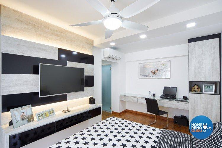 Contemporary, Modern Design - Bedroom - HDB 5 Room - Design by Design 4 Space Pte Ltd