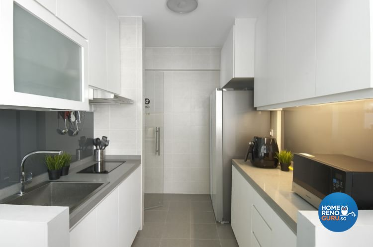Contemporary, Modern Design - Kitchen - HDB 4 Room - Design by Design 4 Space Pte Ltd