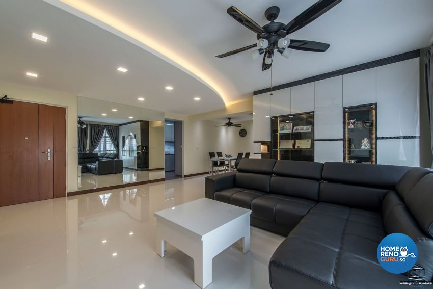 Contemporary, Modern, Retro Design - Living Room - HDB 4 Room - Design by Design 4 Space Pte Ltd