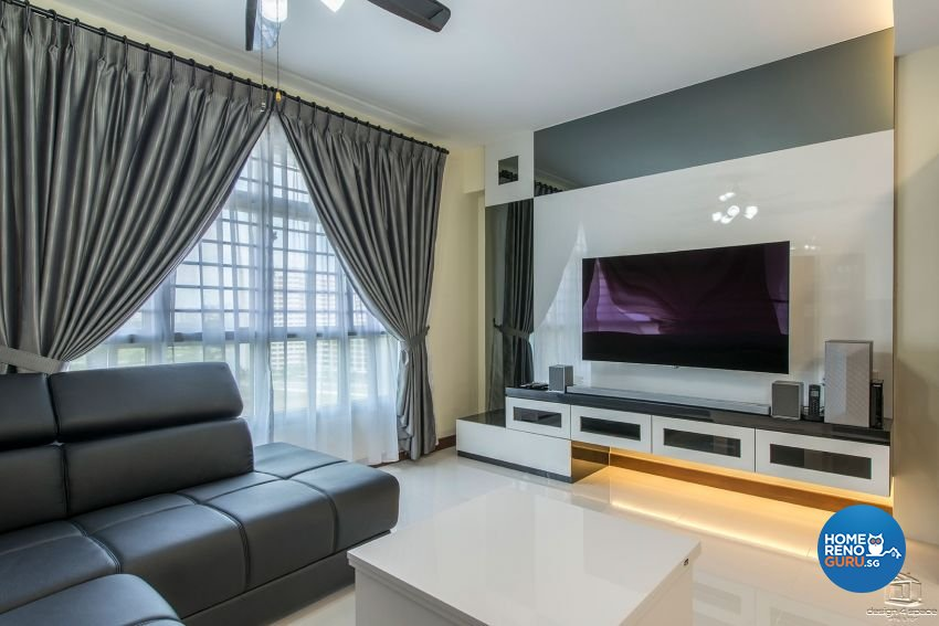 Contemporary, Modern, Retro Design - Living Room - HDB 4 Room - Design by Design 4 Space Pte Ltd