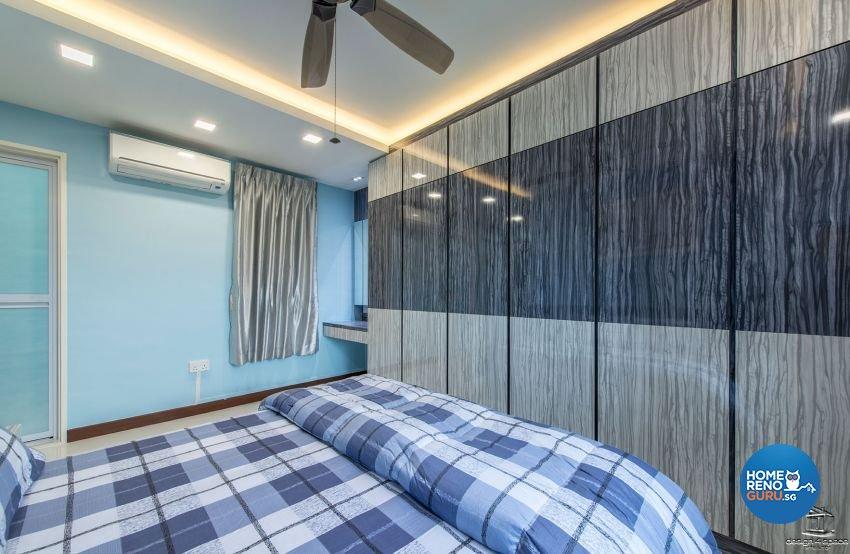 Contemporary, Modern, Retro Design - Bedroom - HDB 4 Room - Design by Design 4 Space Pte Ltd