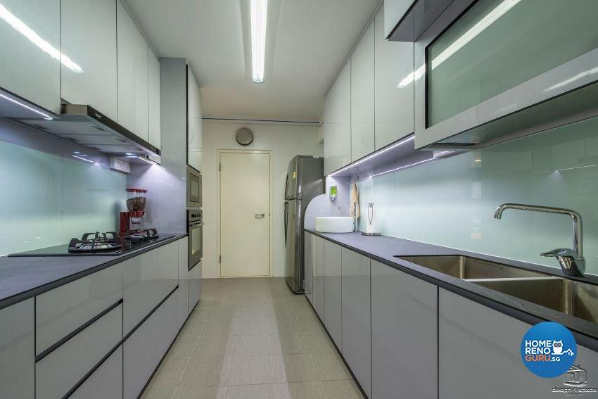 Contemporary, Modern, Retro Design - Kitchen - HDB 4 Room - Design by Design 4 Space Pte Ltd