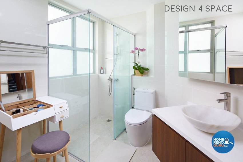 Contemporary, Modern Design - Bathroom - Condominium - Design by Design 4 Space Pte Ltd