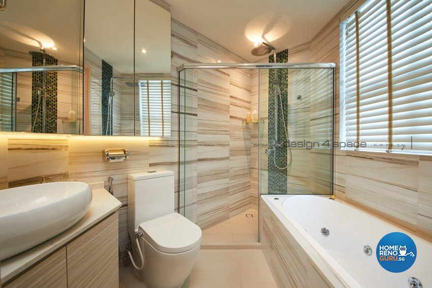 Minimalist Design - Bathroom - Condominium - Design by Design 4 Space Pte Ltd