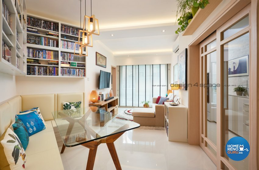 Minimalist Design - Living Room - Condominium - Design by Design 4 Space Pte Ltd