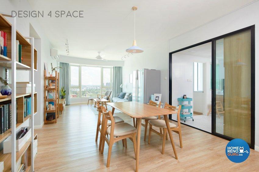 Contemporary, Minimalist, Scandinavian Design - Dining Room - Condominium - Design by Design 4 Space Pte Ltd