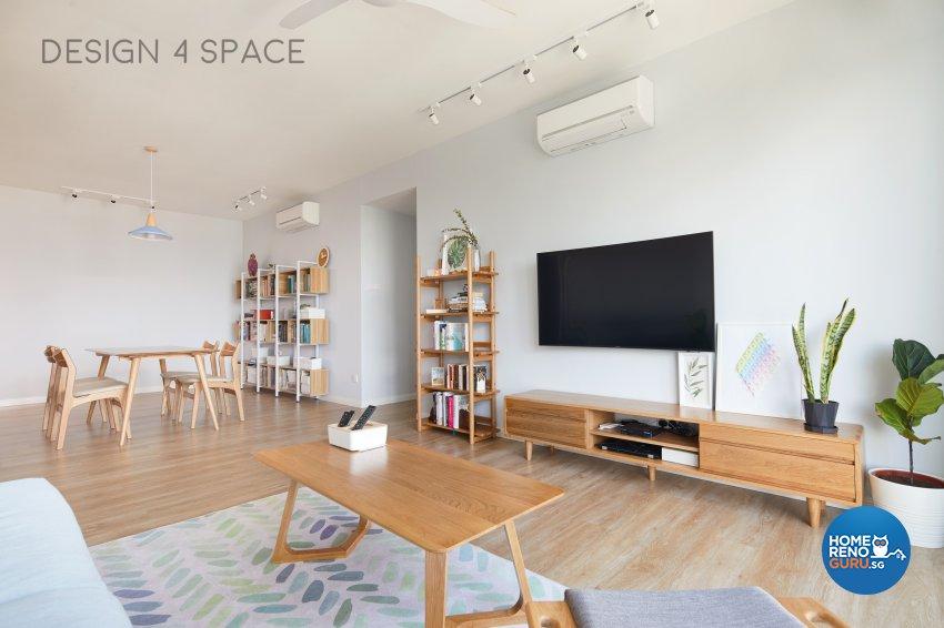 Contemporary, Minimalist, Scandinavian Design - Living Room - Condominium - Design by Design 4 Space Pte Ltd