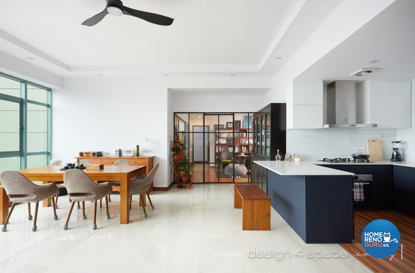 Industrial, Modern, Rustic Design - Kitchen - Condominium - Design by Design 4 Space Pte Ltd