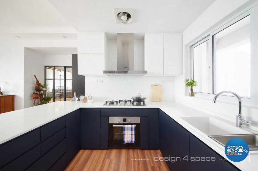 Industrial, Modern, Rustic Design - Kitchen - Condominium - Design by Design 4 Space Pte Ltd