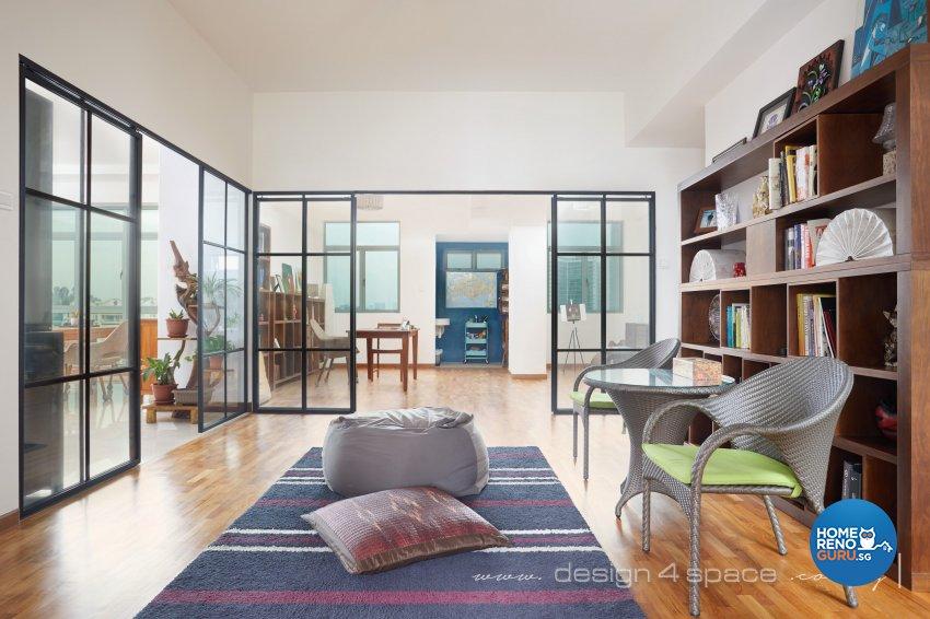 Industrial, Modern, Rustic Design - Study Room - Condominium - Design by Design 4 Space Pte Ltd