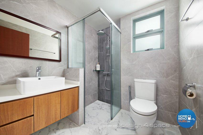 Industrial, Modern, Rustic Design - Bathroom - Condominium - Design by Design 4 Space Pte Ltd
