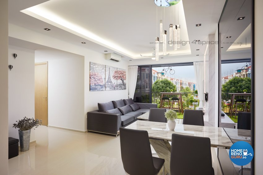 Modern Design - Living Room - Condominium - Design by Design 4 Space Pte Ltd