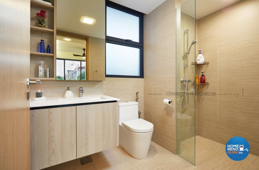Modern Design - Bathroom - Condominium - Design by Design 4 Space Pte Ltd