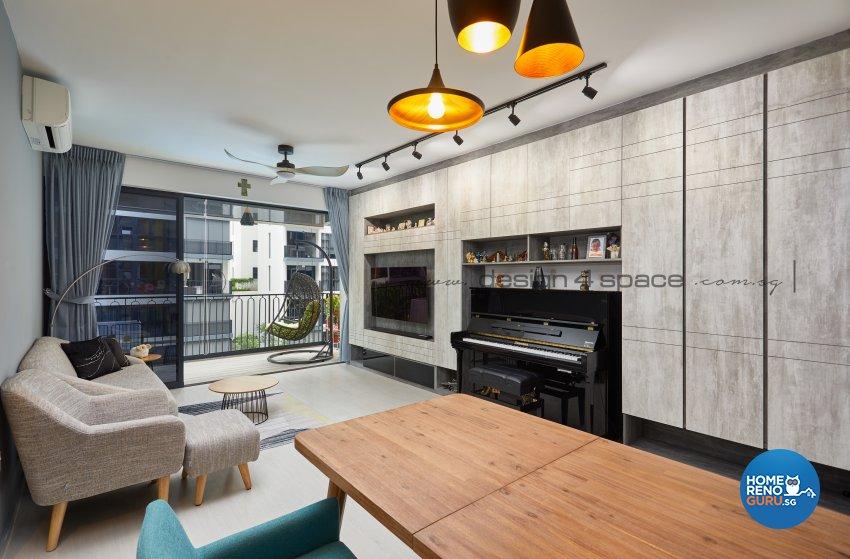 Contemporary, Modern Design - Living Room - Condominium - Design by Design 4 Space Pte Ltd