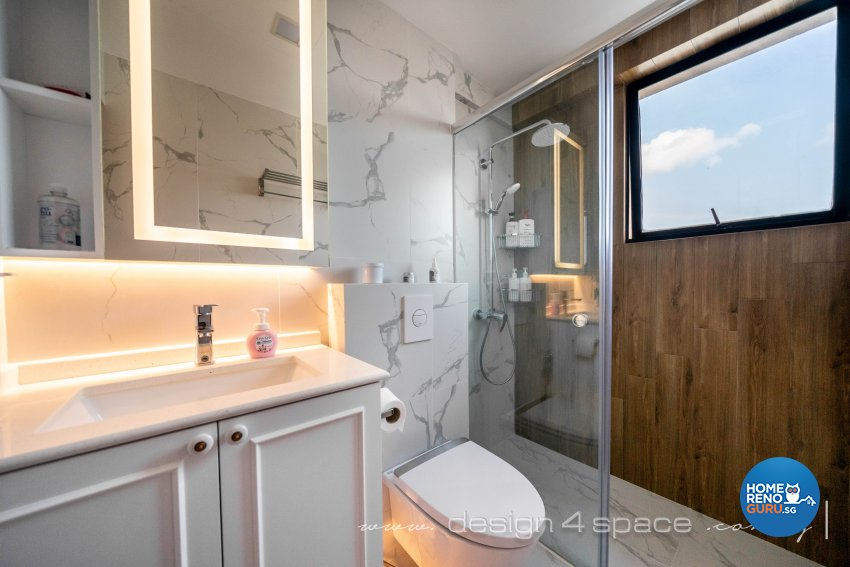 Minimalist, Modern Design - Bathroom - Condominium - Design by Design 4 Space Pte Ltd