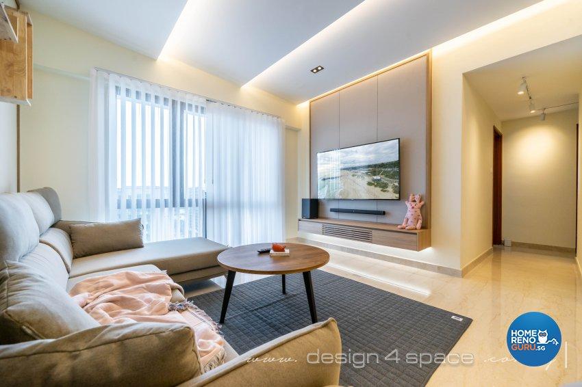Minimalist, Modern Design - Living Room - Condominium - Design by Design 4 Space Pte Ltd