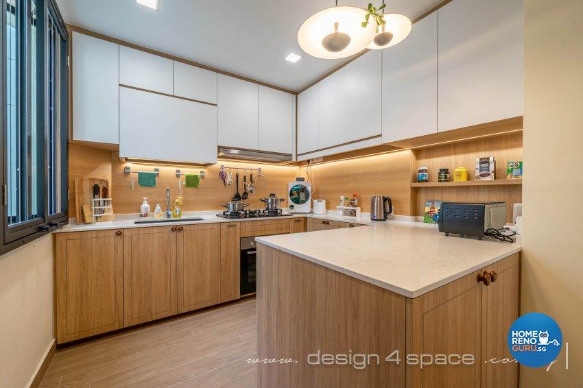 Minimalist, Modern Design - Kitchen - Condominium - Design by Design 4 Space Pte Ltd