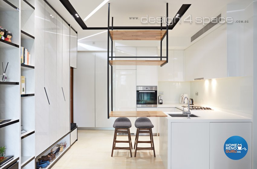 Contemporary, Minimalist, Modern Design - Kitchen - Condominium - Design by Design 4 Space Pte Ltd