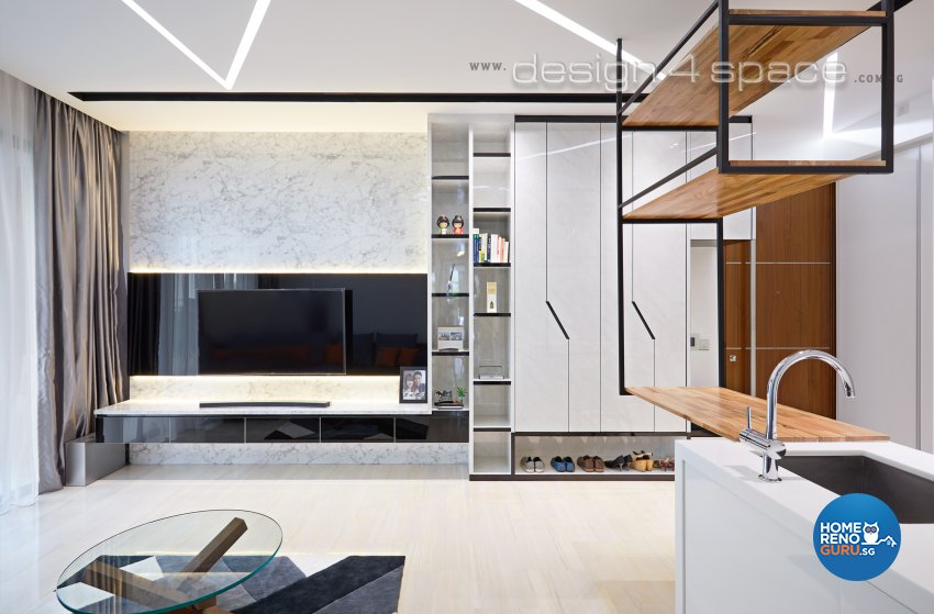 Contemporary, Minimalist, Modern Design - Living Room - Condominium - Design by Design 4 Space Pte Ltd