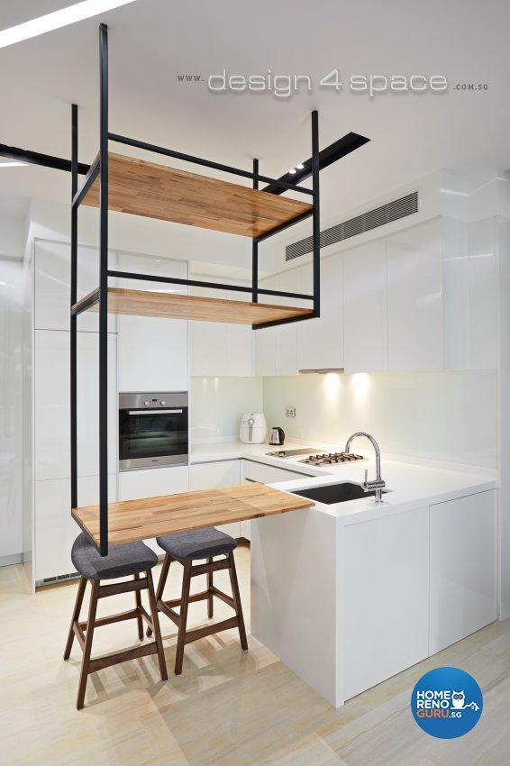 Contemporary, Minimalist, Modern Design - Kitchen - Condominium - Design by Design 4 Space Pte Ltd