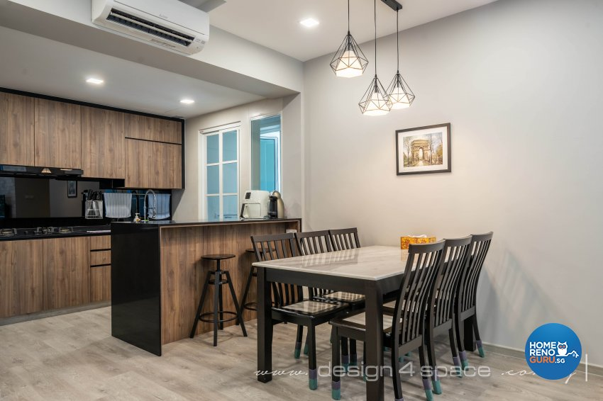 Modern, Scandinavian Design - Dining Room - Condominium - Design by Design 4 Space Pte Ltd