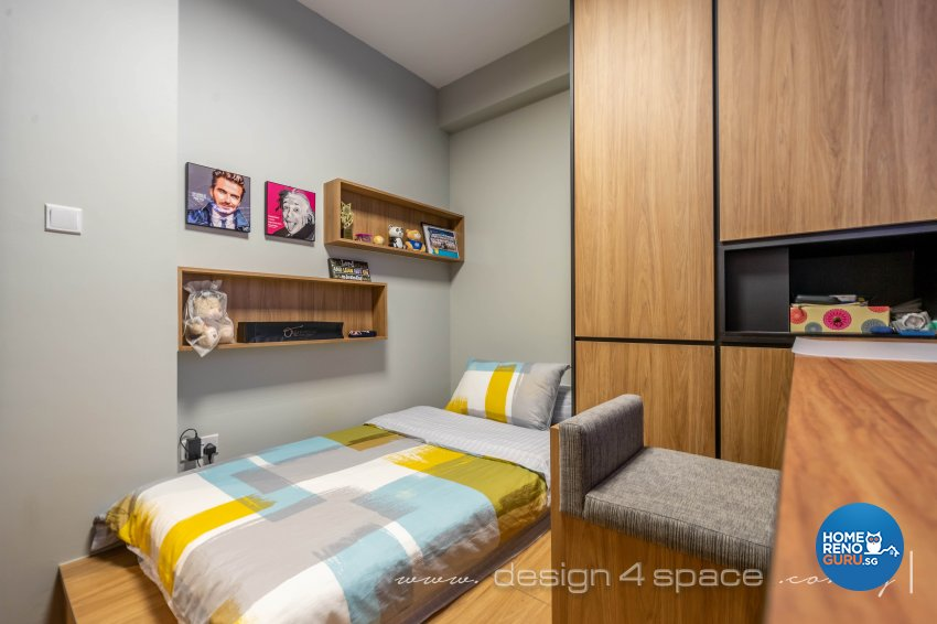 Modern, Scandinavian Design - Bedroom - Condominium - Design by Design 4 Space Pte Ltd