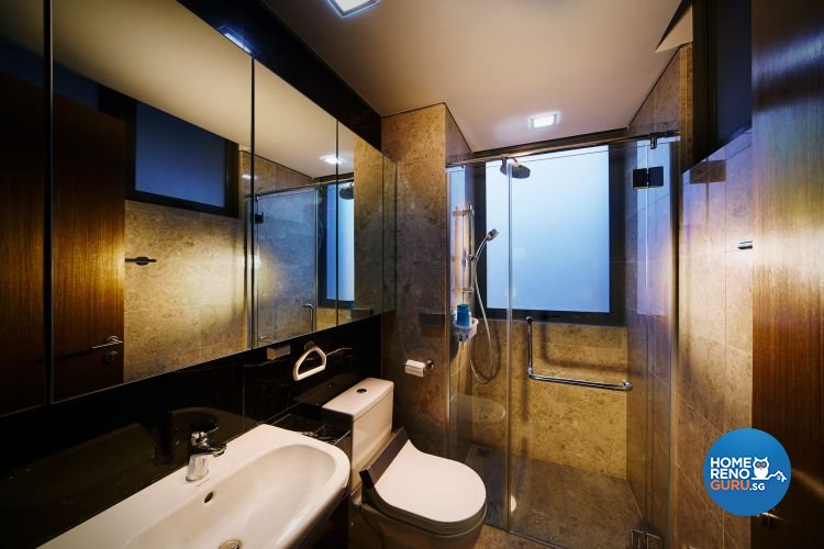 Contemporary, Minimalist Design - Bathroom - Condominium - Design by Design 4 Space Pte Ltd