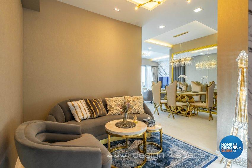 Modern Design - Living Room - Condominium - Design by Design 4 Space Pte Ltd