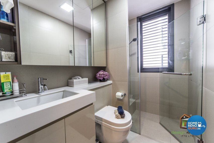 Contemporary, Tropical Design - Bathroom - Condominium - Design by Design 4 Space Pte Ltd