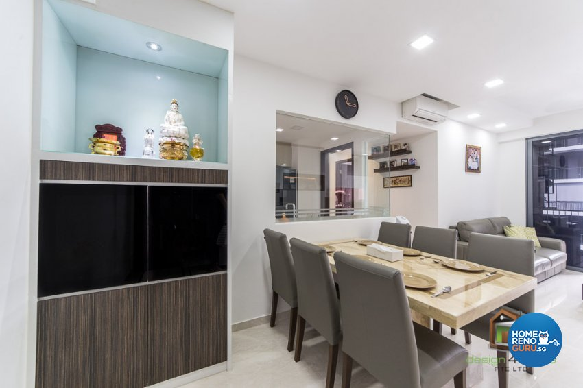 Contemporary, Tropical Design - Dining Room - Condominium - Design by Design 4 Space Pte Ltd