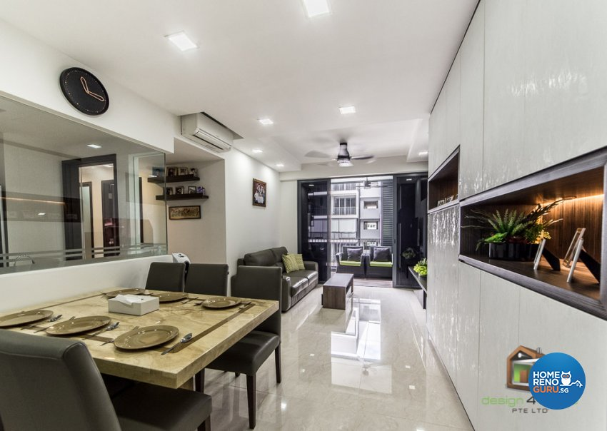 Contemporary, Tropical Design - Living Room - Condominium - Design by Design 4 Space Pte Ltd