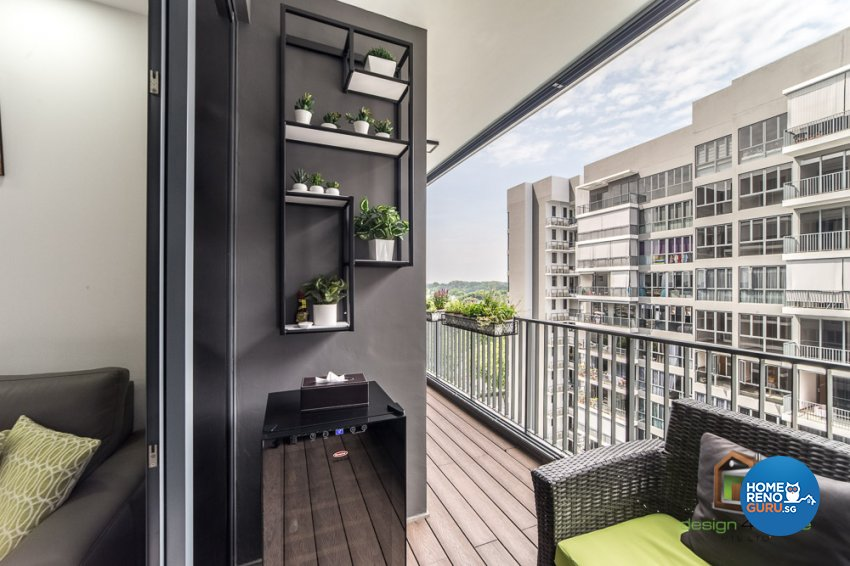 Contemporary, Tropical Design - Balcony - Condominium - Design by Design 4 Space Pte Ltd
