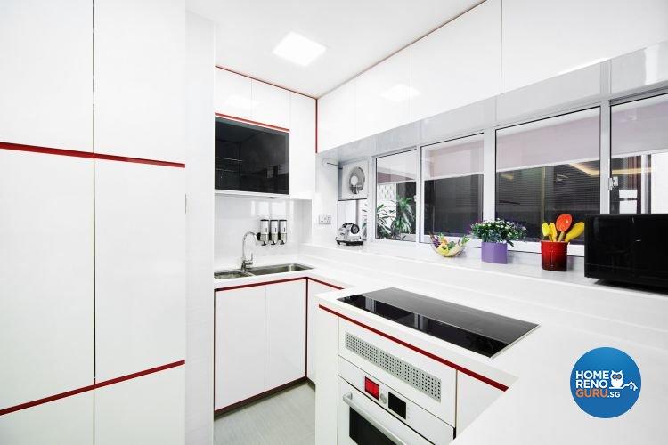 Contemporary, Scandinavian Design - Kitchen - Condominium - Design by Design 4 Space Pte Ltd
