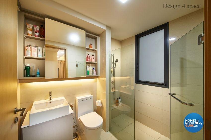 Contemporary, Modern Design - Bathroom - Condominium - Design by Design 4 Space Pte Ltd